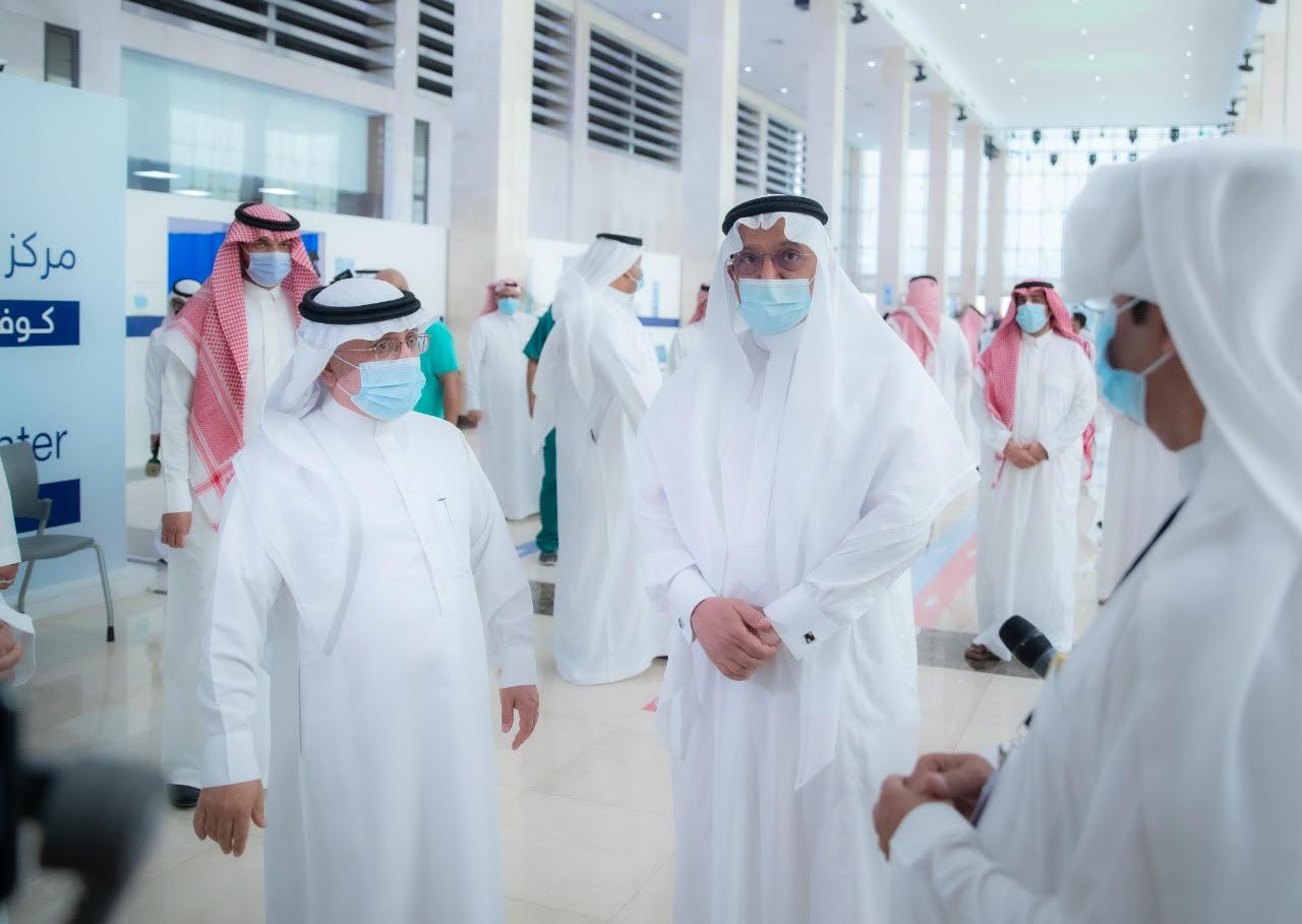 معالي وزير التعليم يتفقد اليوم الأحد مركز لقاحات كوفيد-19 بجامعة الإمام محمد بن سعود الإسلامية